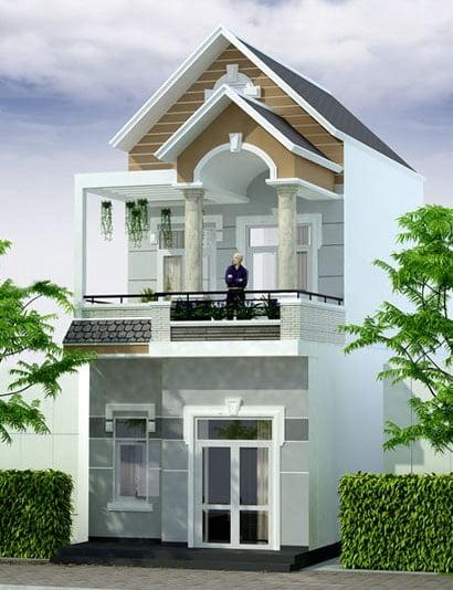 mặt tiền thiết kế nhà đẹp 5x15 1 trệt 1 lầu