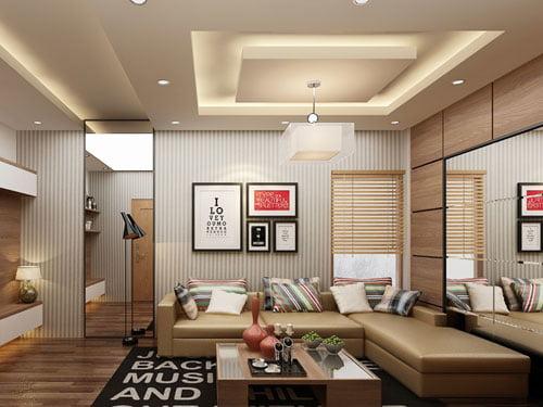 10 mẫu phòng khách đơn giản nhưng độc đáo và ấn tượng