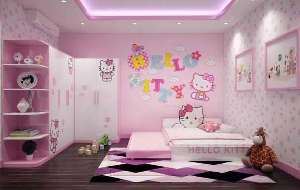 10 mẫu phòng ngủ trẻ em lí tưởng mà bất kì bé gái nào cũng mê