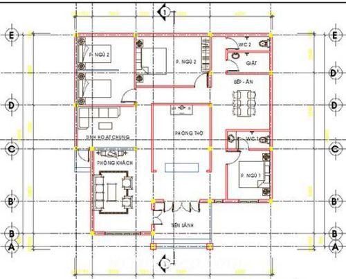 9 mẫu nhà cấp 4 có 3 phòng ngủ đẹp 15