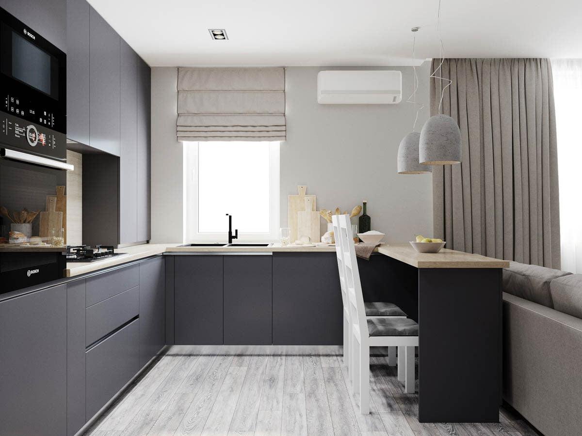 Ấn tượng với mẫu căn hộ chung cư hiện đại màu xám cá tính