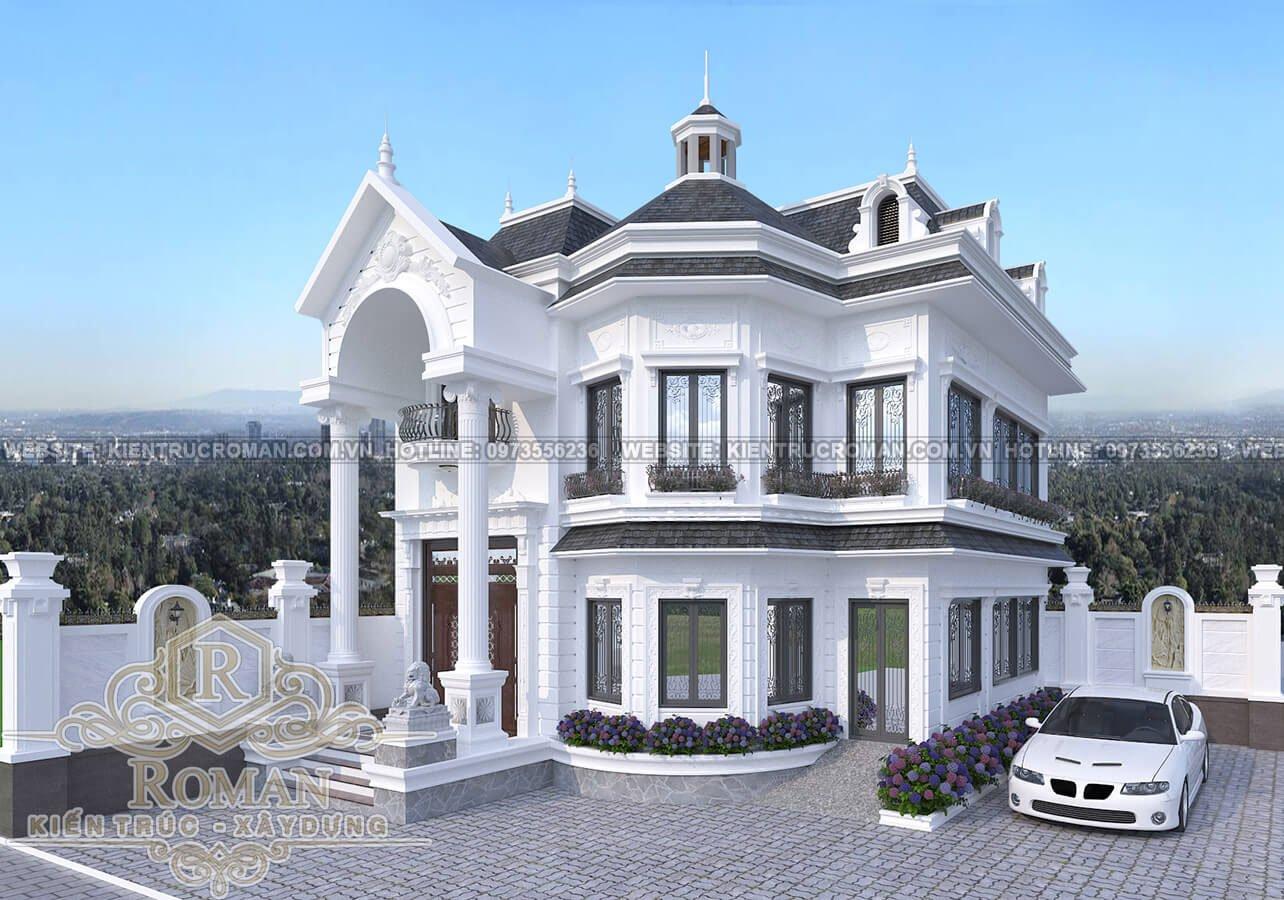 mẫu biệt thự nhà vườn 2 tầng đẹp