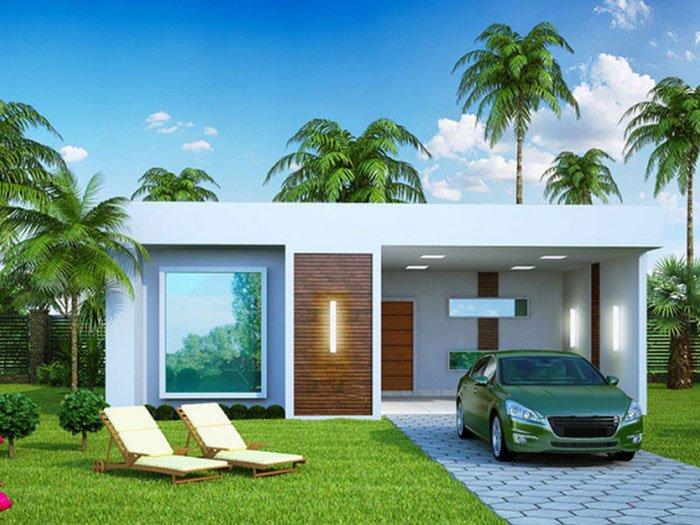 mẫu nhà mái bằng 1 tầng