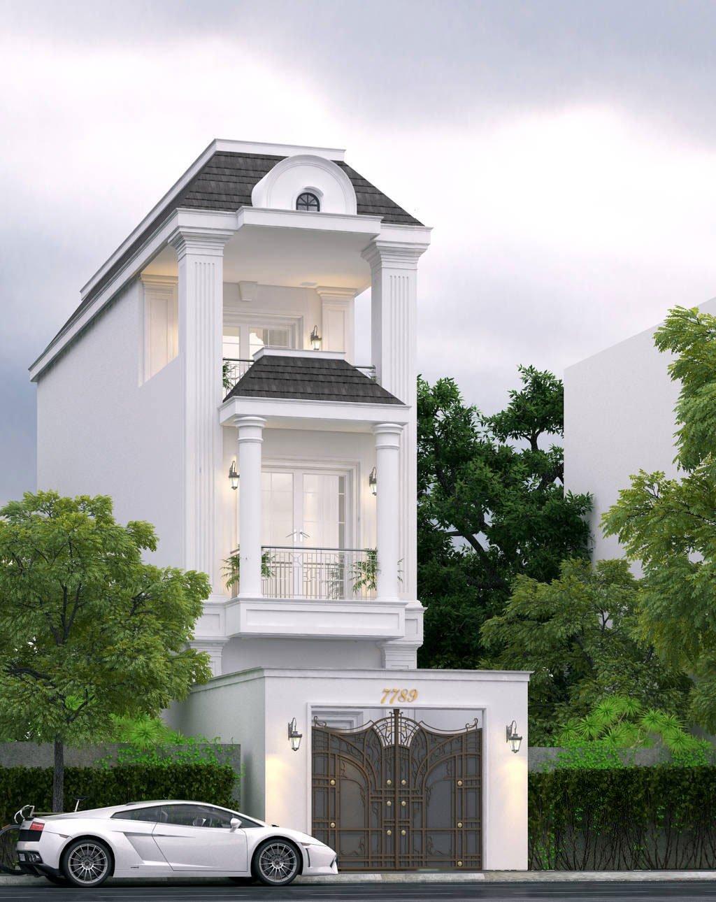 20 mẫu nhà tân cổ điển đẹp xuất sắc được giới kiến trúc đánh giá cao 2