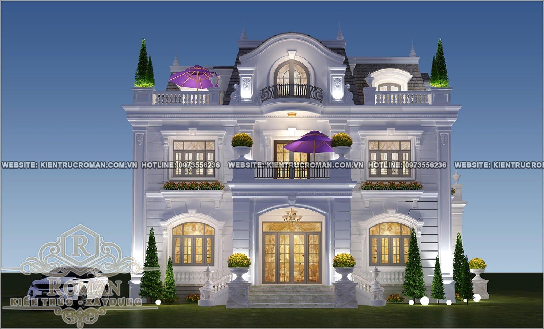 Các mẫu thiết kế biệt thự cổ điển 3 tầng đẹp ấn tượng nhất 2018