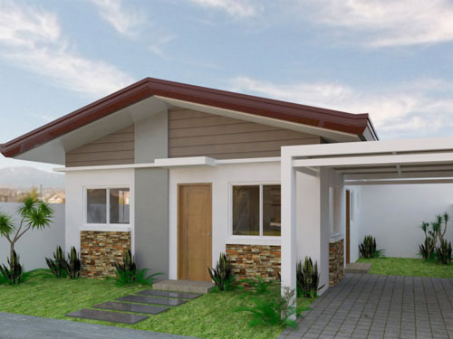 thiết kế nhà 1 tầng 2 phòng ngủ