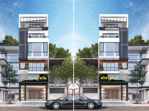 thiết kế nhà mặt phố kinh doanh