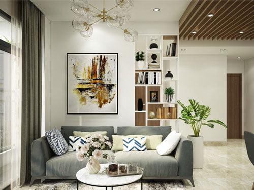 Chiêm nguõng mẫu thiết kế căn hộ 2 phòng ngủ thanh lịch hiện đại