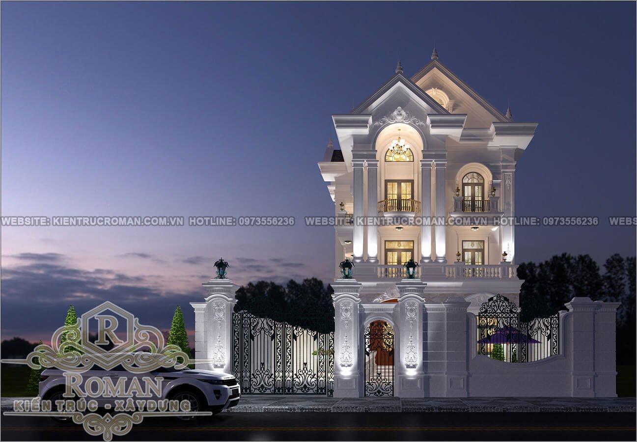 mẫu thiết kế biệt thự tân cổ điển
