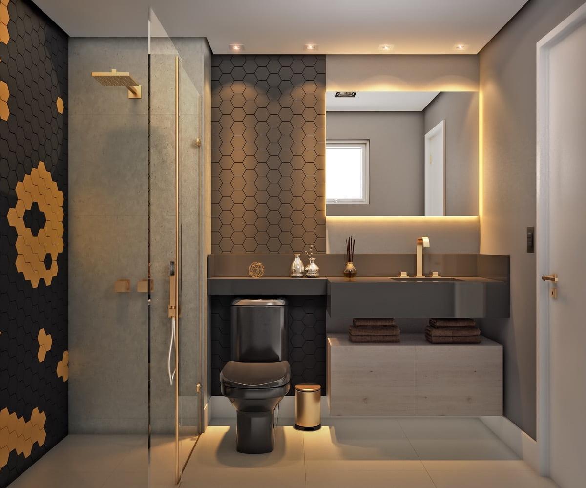 mẫu phòng tắm nhỏ đẹp, sang trọng