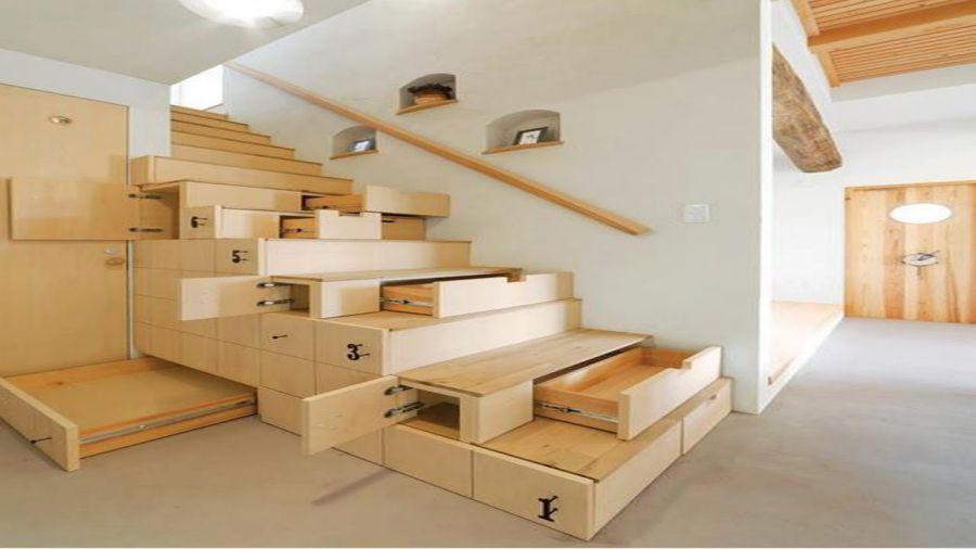 Cầu thang nội thất thông minh cho nhà nhỏ