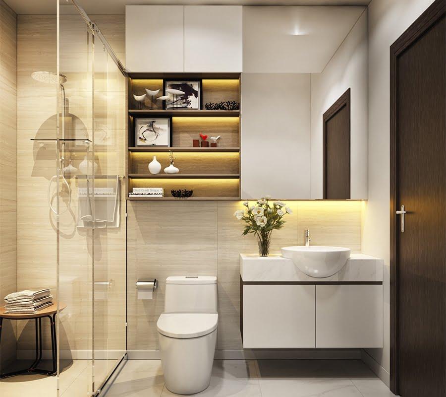phòng tắm nhỏ đẹp hiện đại
