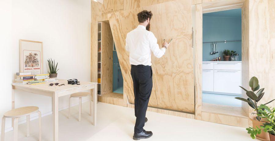 Tủ gỗ nội thất thông minh cho nhà nhỏ