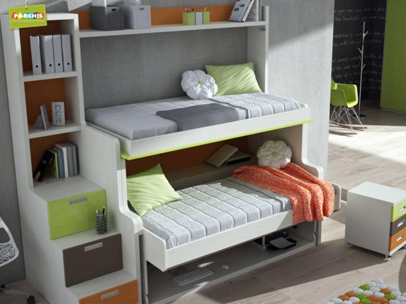 Giường ngủ trẻ em nội thất thông minh cho nhà nhỏ