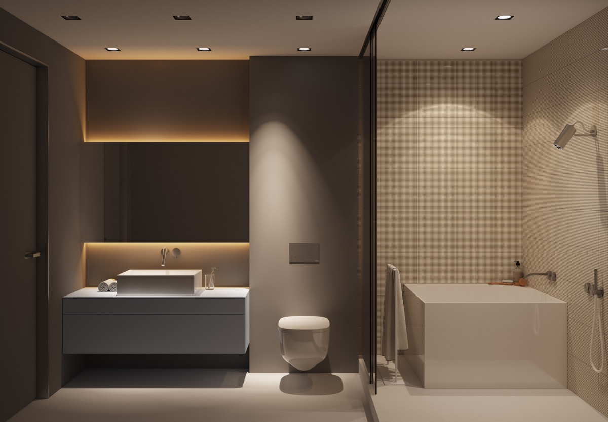 phòng tắm nhỏ đẹp tiện nghi