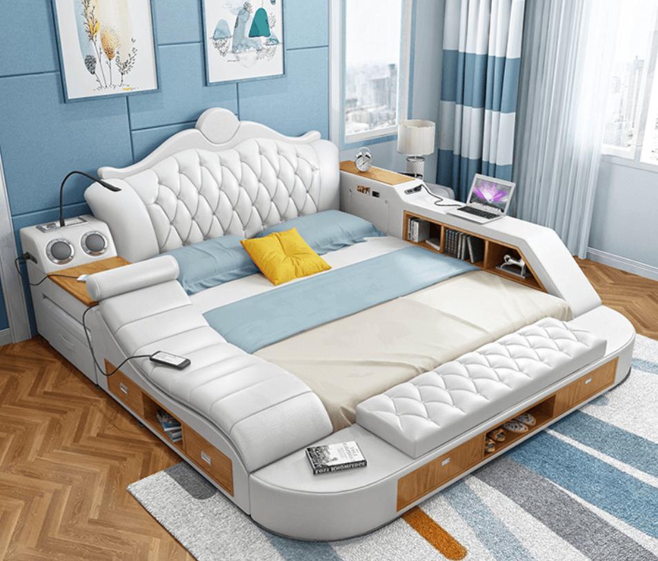 Giường đôi nội thất thông minh cho nhà nhỏ