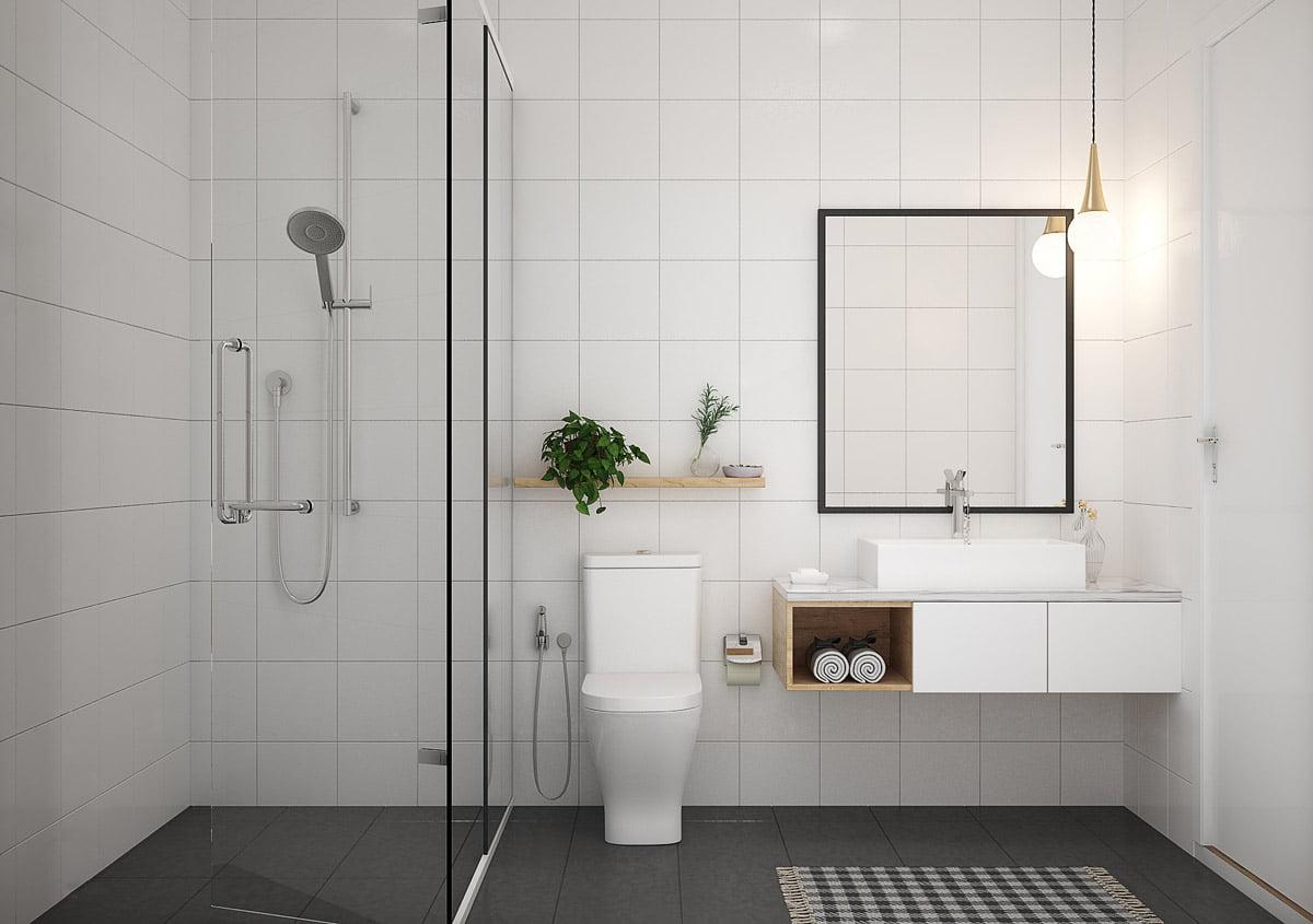 phòng tắm nhỏ đẹp đơn giản