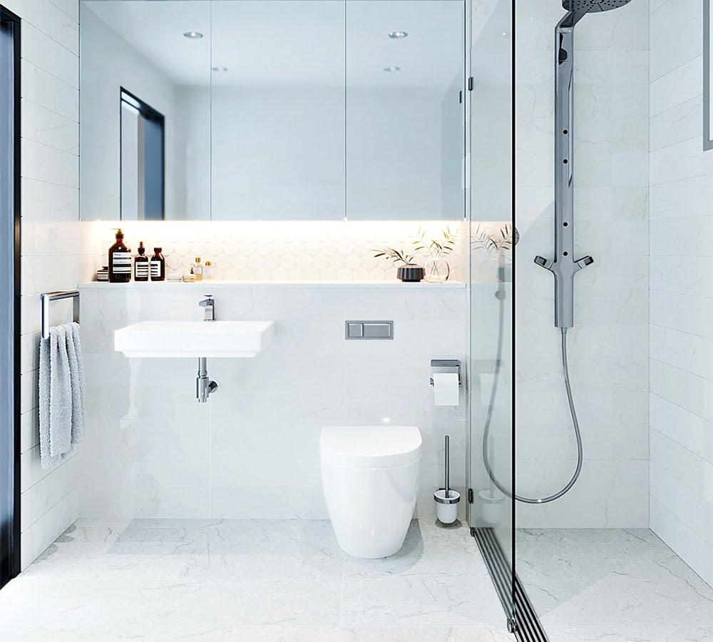 phòng tắm nhỏ đẹp phá cách
