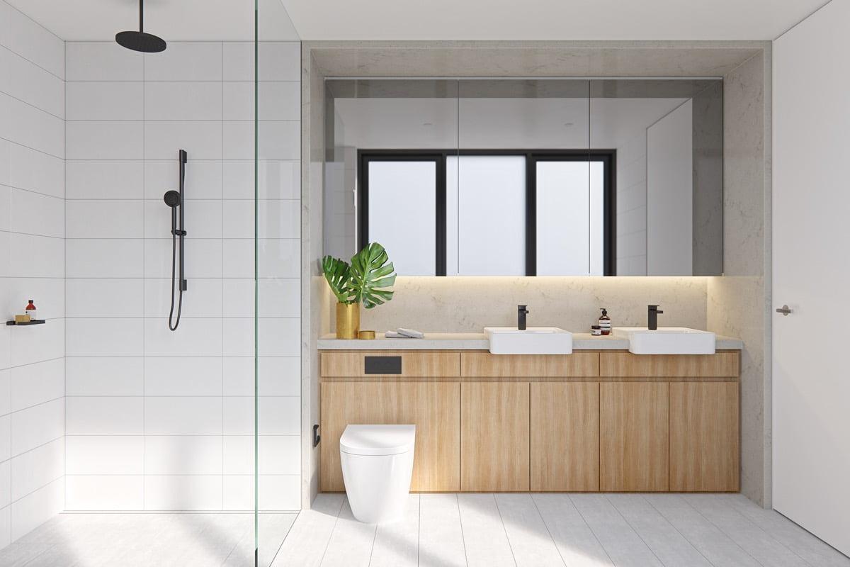 phòng tắm nhỏ đẹp thoáng đãng