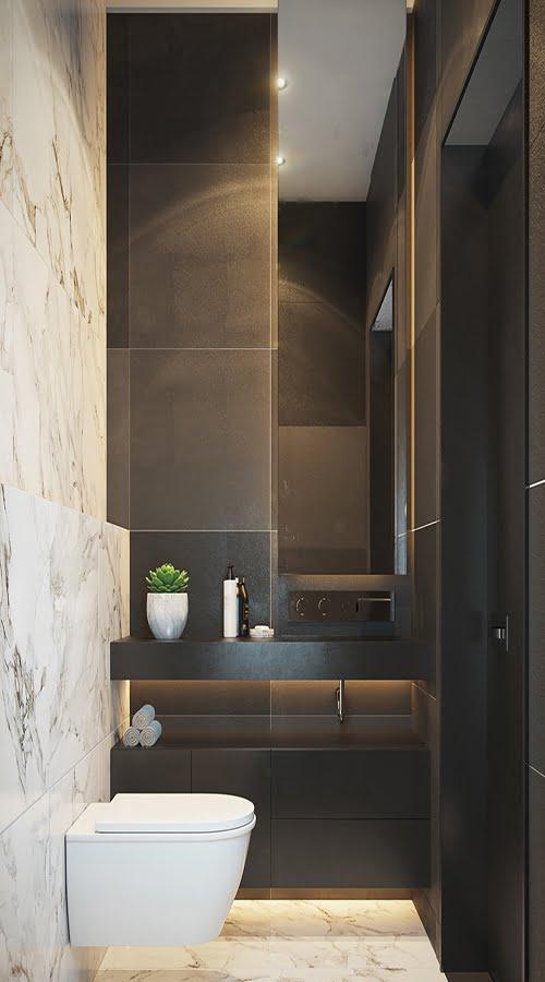 phòng tắm nhỏ đẹp tối giản