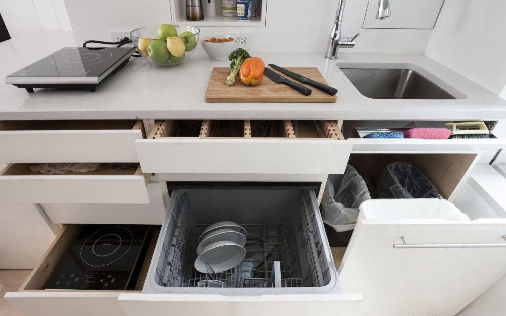 Tủ bếp nội thất thông minh cho nhà nhỏ