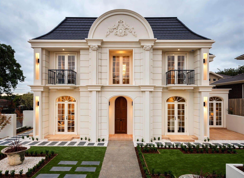 mẫu nhà biệt thự 2 tầng đẹp