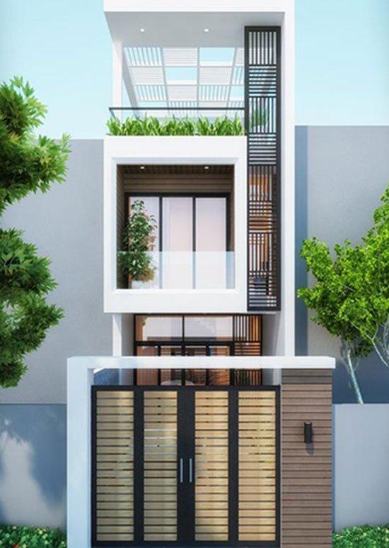 nhà đẹp 2 tầng 1 tum