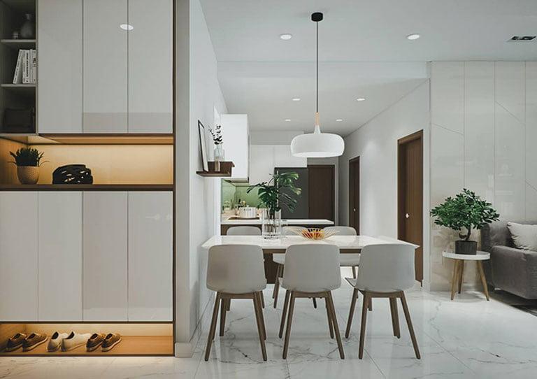 Khám phá mẫu thiết kế nội thất căn hộ 80m2 đẹp mắt tiện nghi