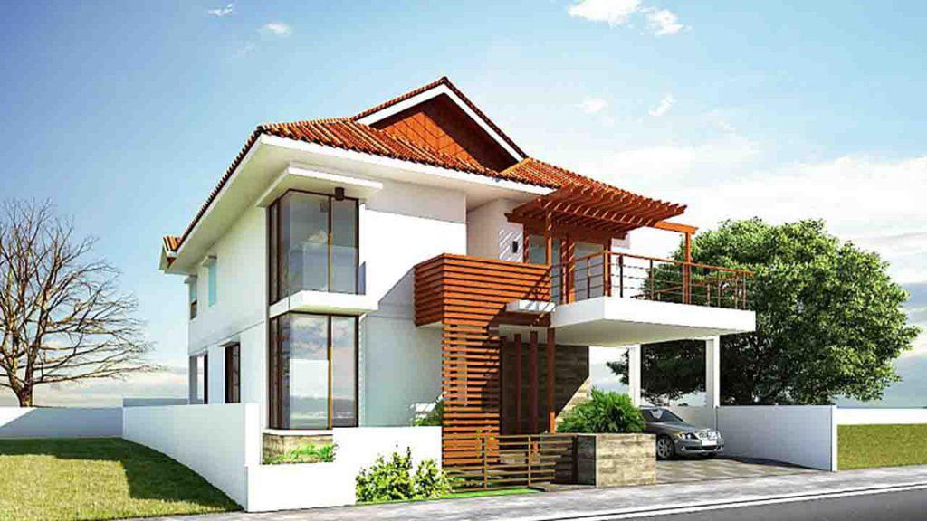 nhà 2 tầng mái thái