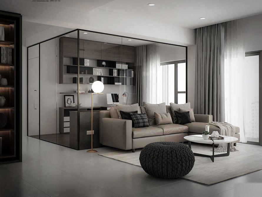 Mẫu căn hộ chung cư hiện đại đơn giản nhưng đẹp ngỡ ngàng