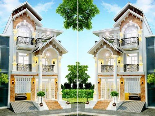 mẫu nhà tân cổ điển 3 tầng