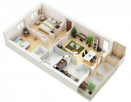 thiết kế nội thất chung cư 70m2