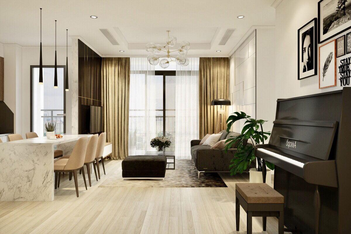 Ngắm mãi không chán với mẫu căn hộ chung cư 2 phòng ngủ