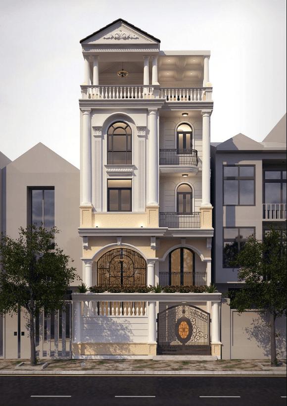 Ngắm nhìn mẫu nhà phố tân cổ điển hoàn hảo đến từng chi tiết