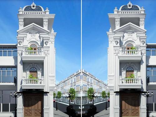 Nhà tân cổ điển 3 tầng điểm nhấn ấn tượng trong cuộc sống hiện đại
