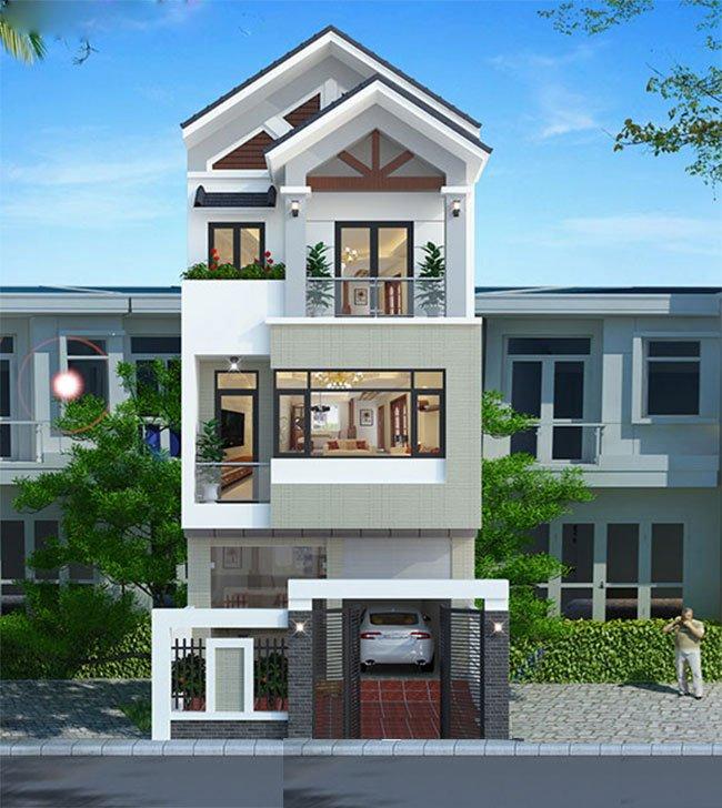 trang trí mặt tiền nhà mái thái 11