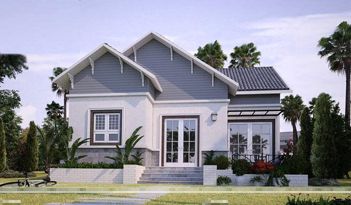 mẫu nhà cấp 4 nông thôn đẹp tiết kiệm chi phí xây dựng 4