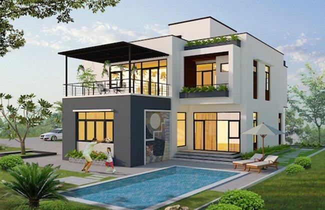 Những mẫu thiết kế biệt thự mini 2 tầng đẹp phố biến nhất hiện nay