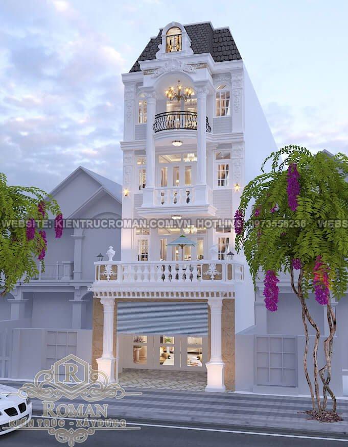 thiết kế nhà phố kiểu pháp