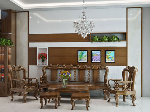 Thích mê mẫu nhà phố ấm cúng với nội thất gỗ mộc mạc