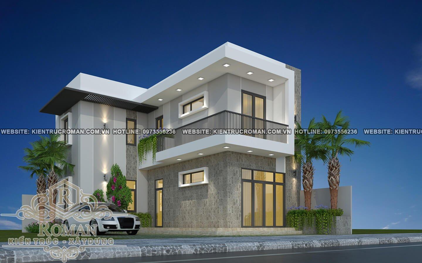 Thiết kế mẫu nhà 2 tầng đơn giản với chi phí thấp mà đẹp