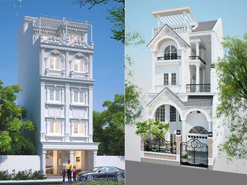 Thiết kế nhà phố bán cổ điển với không gian sang trọng ấm cúng
