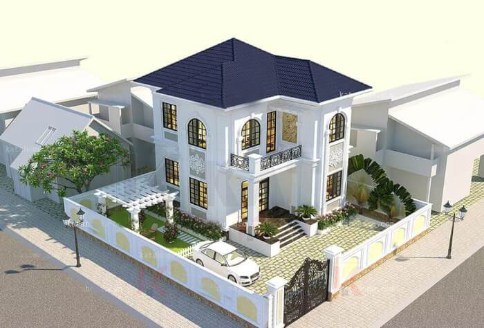 Tổng hợp các mẫu nhà 2 tầng chữ L làm khuynh đảo giới kiến trúc
