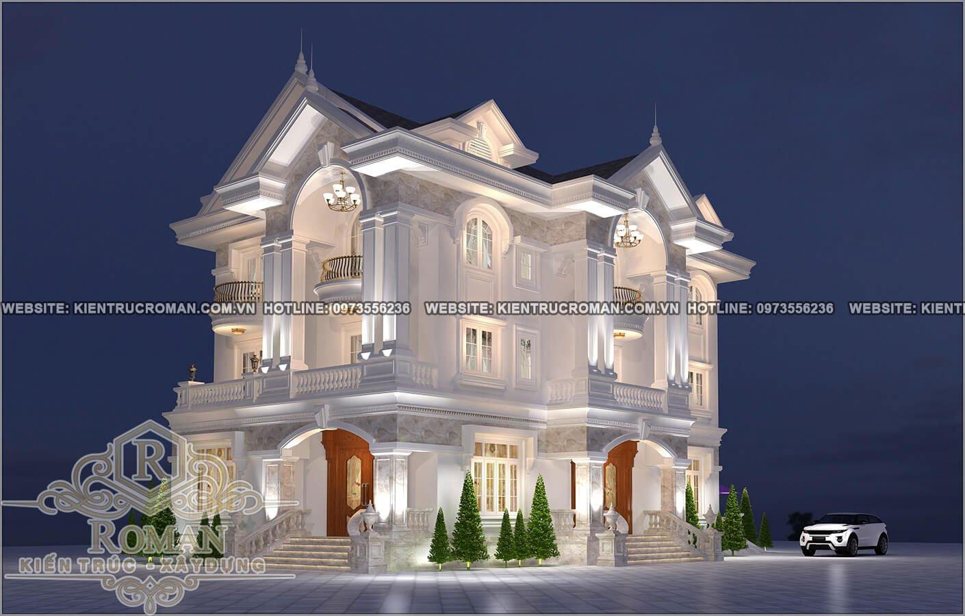 Tổng hợp các mẫu thiết kế biệt thự 3 tầng tân cổ điển hiện nay