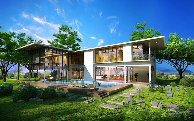 Tổng hợp các mẫu thiết kế biệt thự nghỉ dưỡng siêu đẹp siêu sang