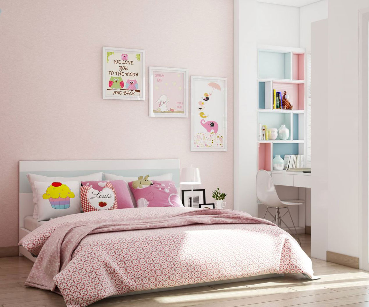 Tổng hợp mẫu phòng ngủ trẻ em gam màu tươi vui tuyệt đẹp