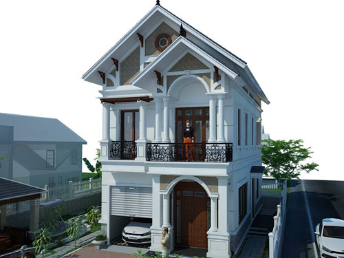 Tổng hợp những mẫu nhà 2 tầng mái thái đáng chú ý nhất 2018