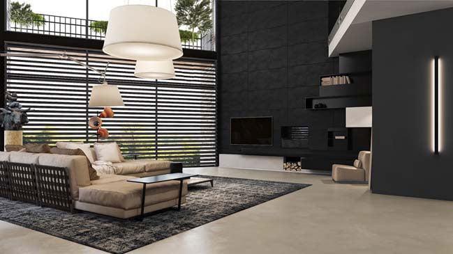 Tổng hợp những mẫu phòng khách màu tối đẹp lung linh