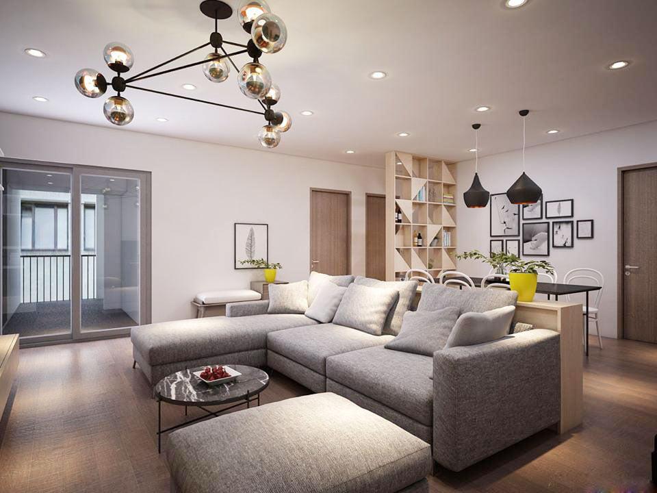 Tròn mắt với mẫu thiết kế nội thất chung cư hiện đại không gian mở