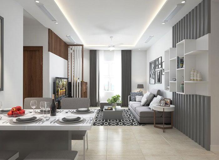 Gợi ý mẫu thiết kế nội thất chung cư hiện đại đẹp hoàn mỹ | ROMAN